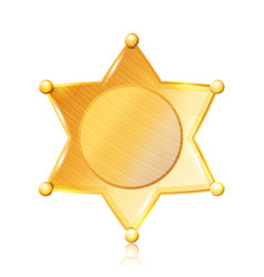 Sheriff badge star gold symbol municipal vector