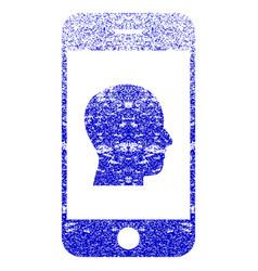 Smartphone contact human portrait textured icon vector