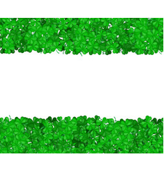 st patricks day clover green border of shamrocks vector image