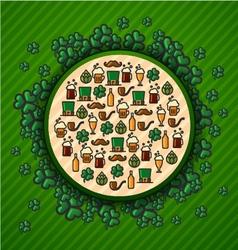 St Patricks Day Green background trefoil vector