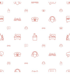 Talk icons pattern seamless white background vector