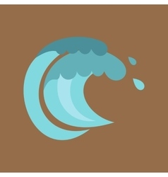 Tenth wave icon cartoon style vector