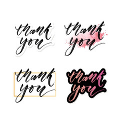 thank you card beautiful greeting card scratched vector image