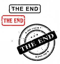 THE END sign vector image