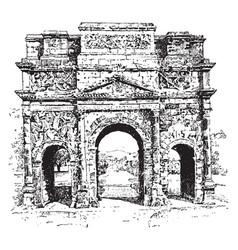 Triumphal arch a monumental structure vintage vector