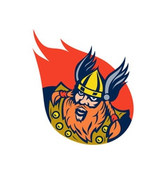 Viking warrior or norse god vector