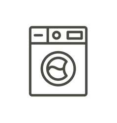 wash machine icon outline washer line lau vector image