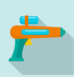watergun icon flat style vector image