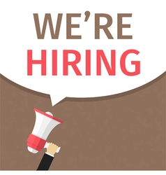 We Are Hiring vector image