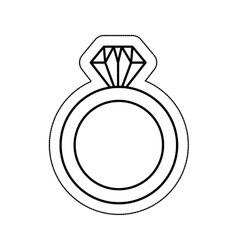 Wedding ring isolated icon vector