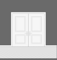 white closed door vector image