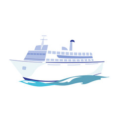 white passenger ship on the water vector image