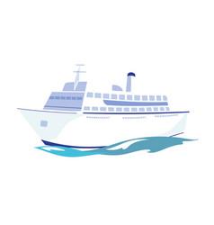 white passenger ship on water vector image