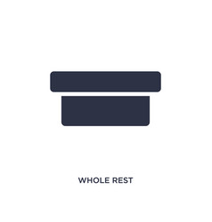 Whole rest icon on white background simple vector