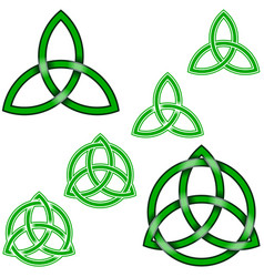 Wiccan triqueta symbol design intertwined with vector