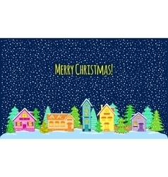 Winter night Merry Christmas vector image vector image