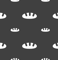 Bread icon sign Seamless pattern on a gray vector image