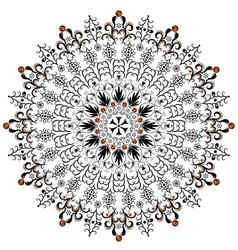 decorative round frame vector image