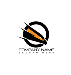 eagle head logotype concept icon vector image