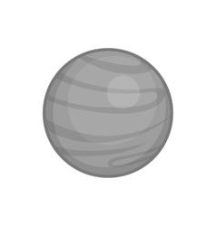 Jupiter planet icon black monochrome style vector image vector image