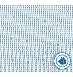 Sea wave hand-drawn pattern waves background vector image