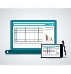 Spreadsheet icon design vector image vector image
