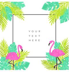 summer tropical background design vector image