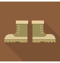 combat military boots with shadow vector image vector image