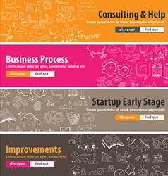 Flat design concepts for startups consulting vector image