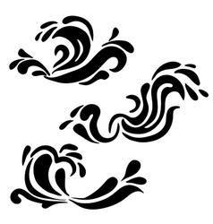 High quality original water swirl pattern set vector image