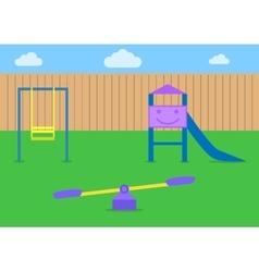 Kids playground vector image