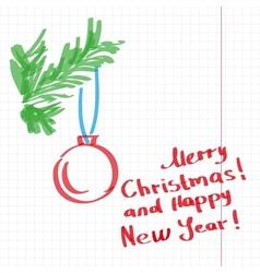 Sketchy Christmas tree vector image vector image