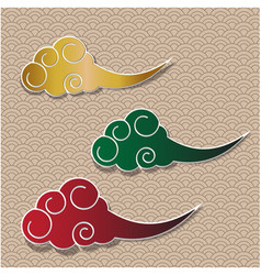 chinese cloud traditional background vector image vector image
