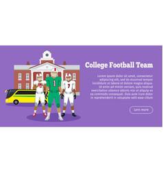 colleage football team high school vector image vector image