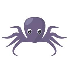 Purple octopus sea life vector