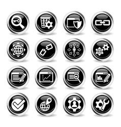 seo and development icon set vector image