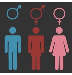 Set of gender symbols vector image vector image