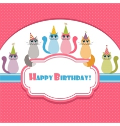 card with cats vector image vector image