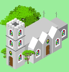 Isometric Castle Church vector image vector image