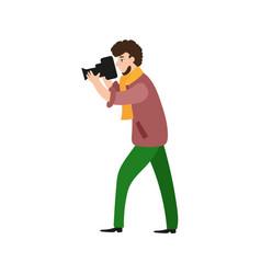 photographer camera man videographer at work vector image