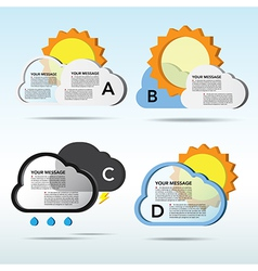 Abstract 3D weather speech bubble background vector