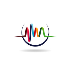 abstract colorful audio wave logo sign symbol icon vector image