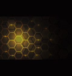 abstract gold hexagon mesh pattern light power vector image