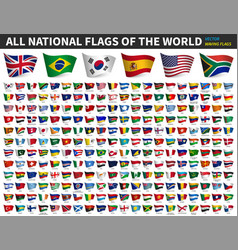 all national flags world waving flag vector image