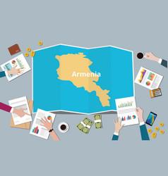 Armenia country growth nation team discuss vector