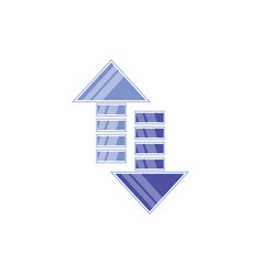 arrows up an down symbol vector image