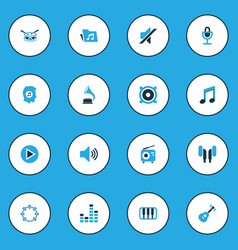 Audio colorful icons set collection of speaker vector