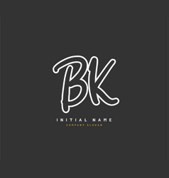 B k bk beauty initial logo handwriting logo vector