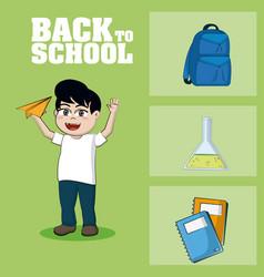 back to school supplies vector image