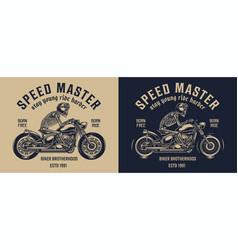 Bikers club vintage label vector